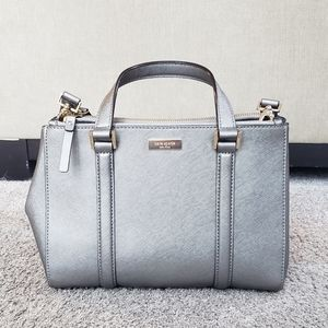Kate Spade Small Loden Purse in Silver Used Once